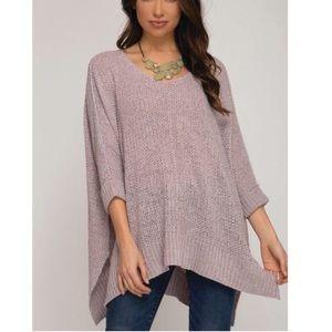 She&Sky high low cuff sweater